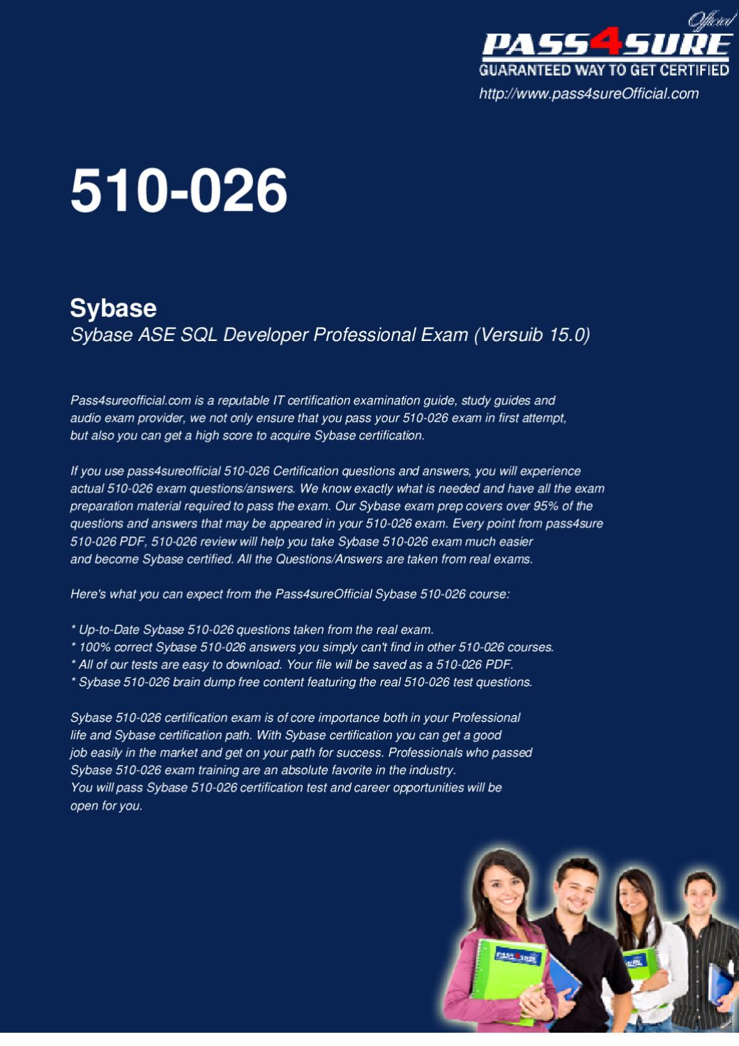 Sybase Study Guide Questions & Sybase Free Download Vce ...