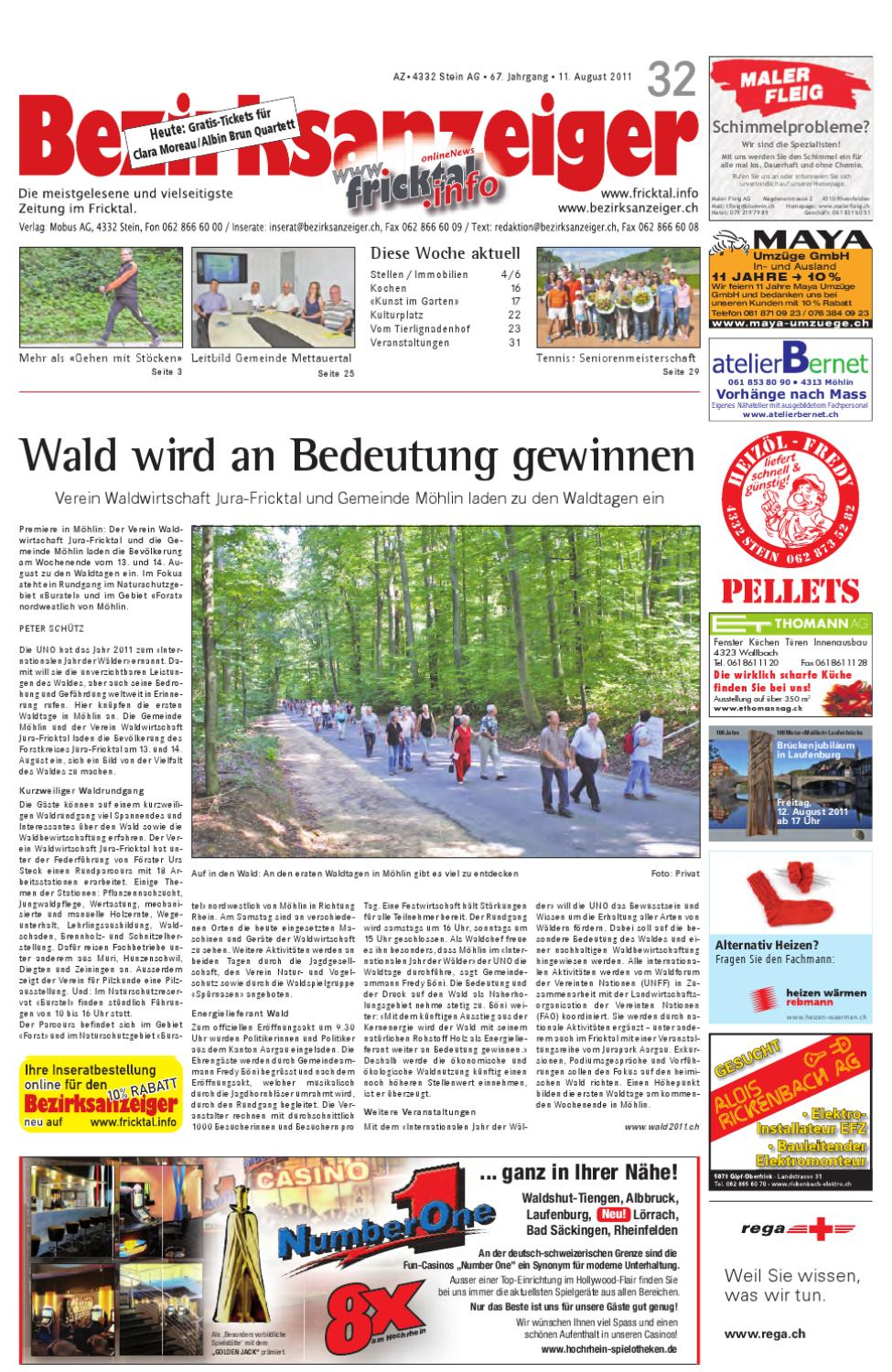 Bezirksanzeiger 2011 32 By Mobus Ag Issuu