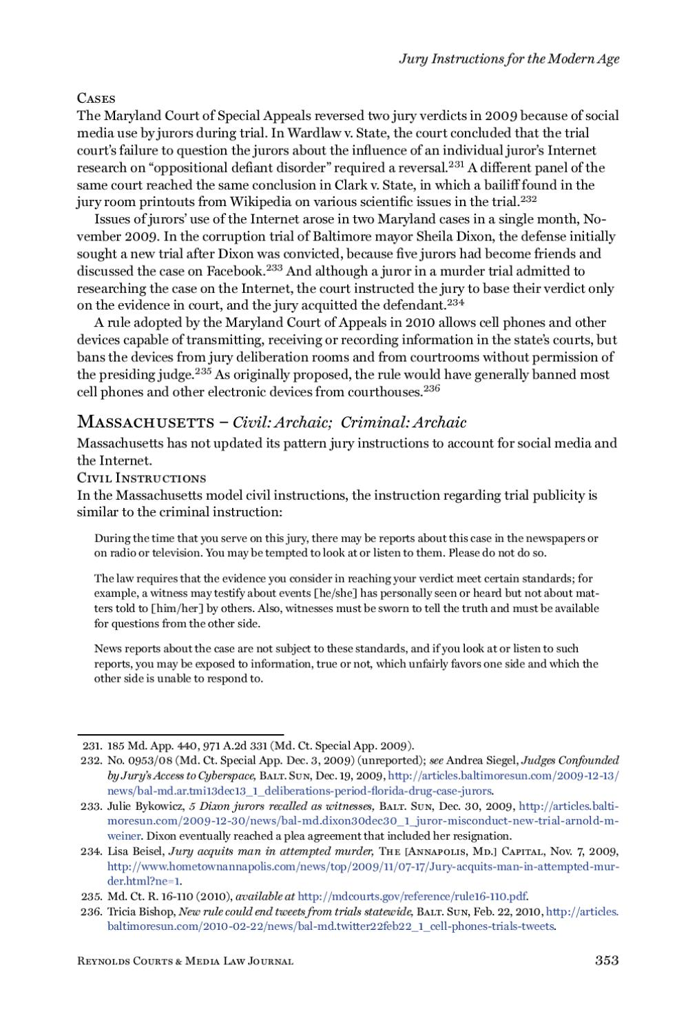 vol 1 issue 3 by Reynolds National Center for Courts and Media - issuu