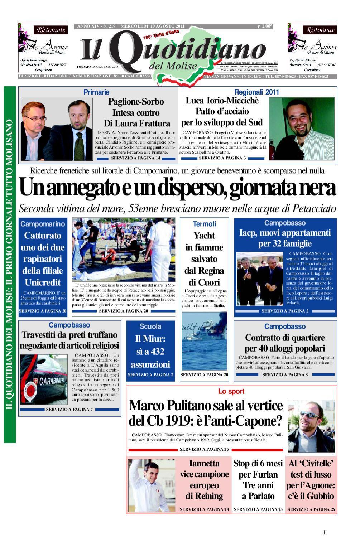 Il Quotidiano Del Molise Del 10 Agosto 2011 By Bruno Marrone Issuu