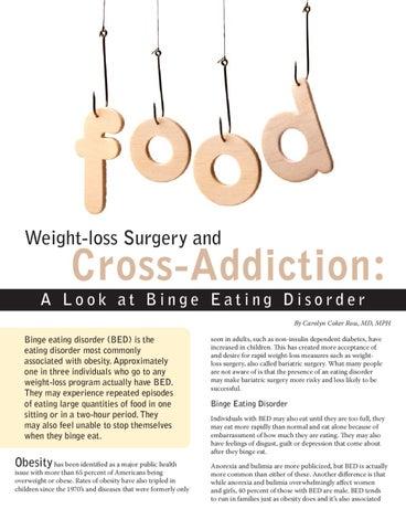 Weight loss surgery addiction