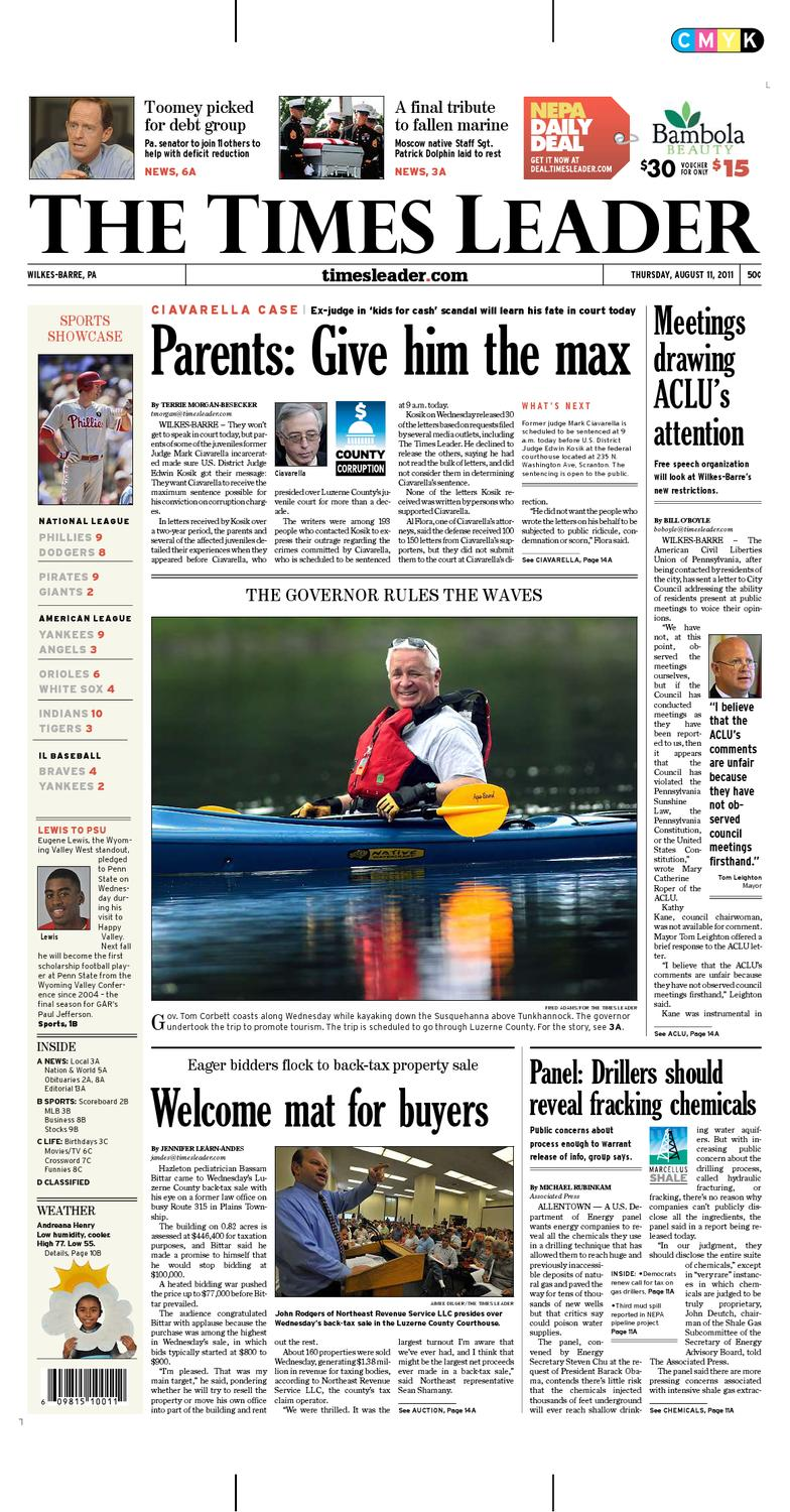 low priced 575f9 f09db Times Leader 08-11-2011 by The Wilkes-Barre Publishing Compa