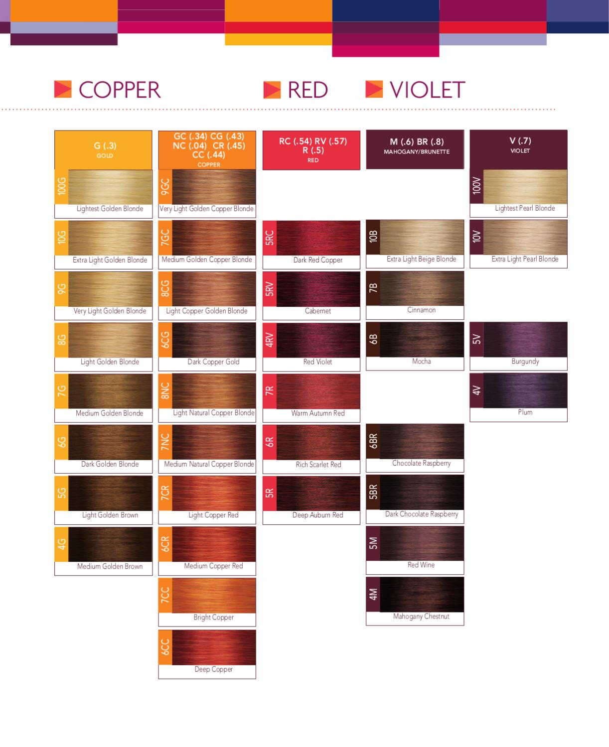Online Hair Color Swatch Book