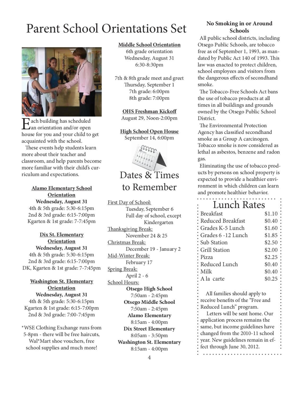 August 2011 Newsletter by Otsego Public Schools - issuu