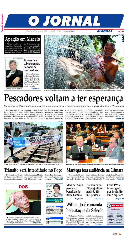 15affa6e974 OJORNAL 04 08 2011 by OJORNAL SISTEMA DE COMUNICACAO - issuu