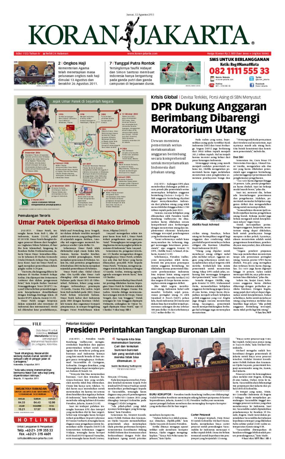 Edisi 1006 14 April 2011 By Pt Berita Nusantara Issuu Rejeki Tcash Voucher Mcdonaldamp039s Rp 300000 1122 12 Agustus 2011pdf