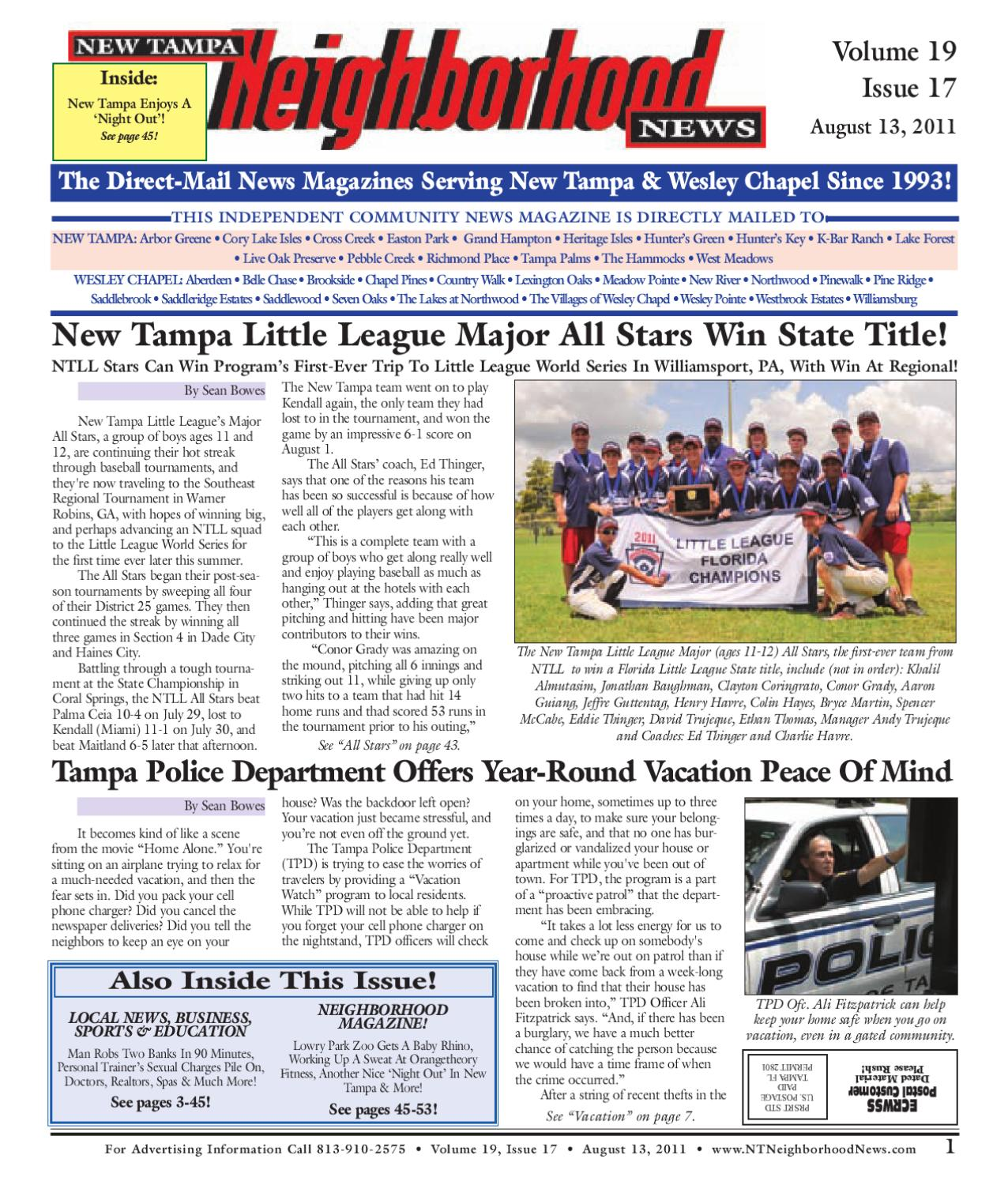 New tampa issue 17 11 by neighborhood news issuu for 3097 cory terrace easton pa