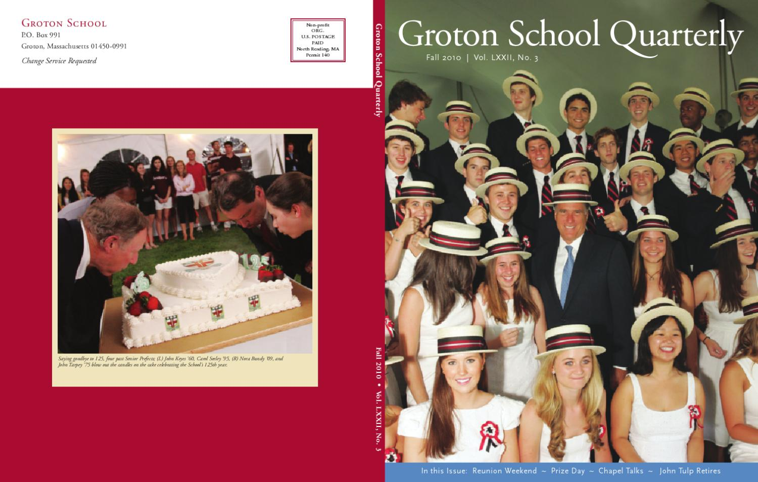 Groton School Quarterly Fall 2010 By Groton School Issuu