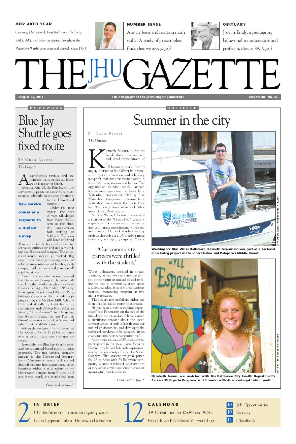 The Gazette by The Johns Hopkins University - issuu