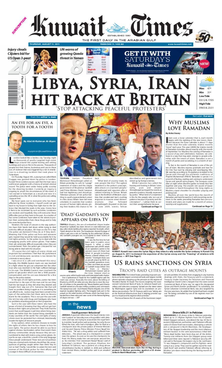 11 Aug by Kuwait Times - issuu