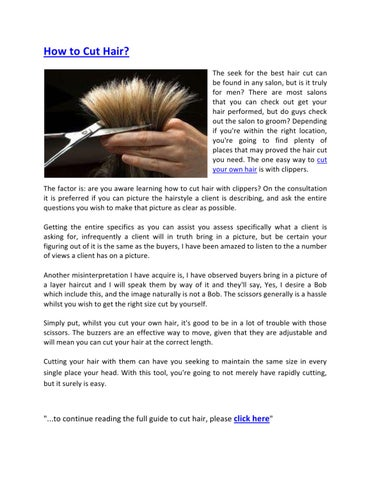 How to Cut Hair by Raymond CC , issuu
