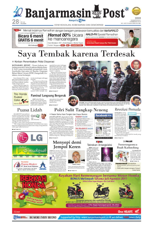 Banjarmasinpost Edisi Cetak Senin 15 Agustus 2011 By Banjarmasin Kartu Kemat Listrik Post Issuu