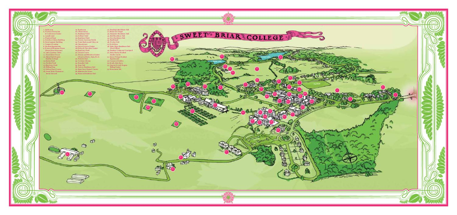 sweet briar campus map Campus Map By Sweet Briar College Issuu