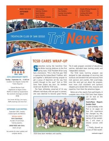 98cee81efbbc70 TCSD TriNews September 2009 by Triathlon Club of San Diego - issuu