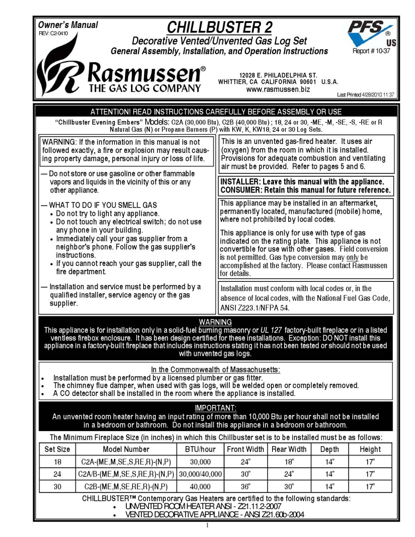 Rasmussen Gas Logs By Smoke Fire Issuu