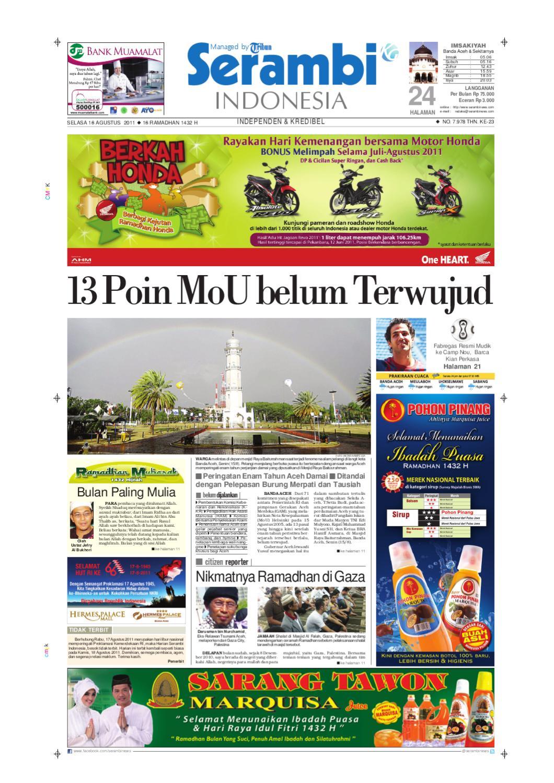 Serambi Infonesia By Serambinews Indonesia Issuu Produk Ukm Bumn Nabilla Biru Donker Ty Hijab