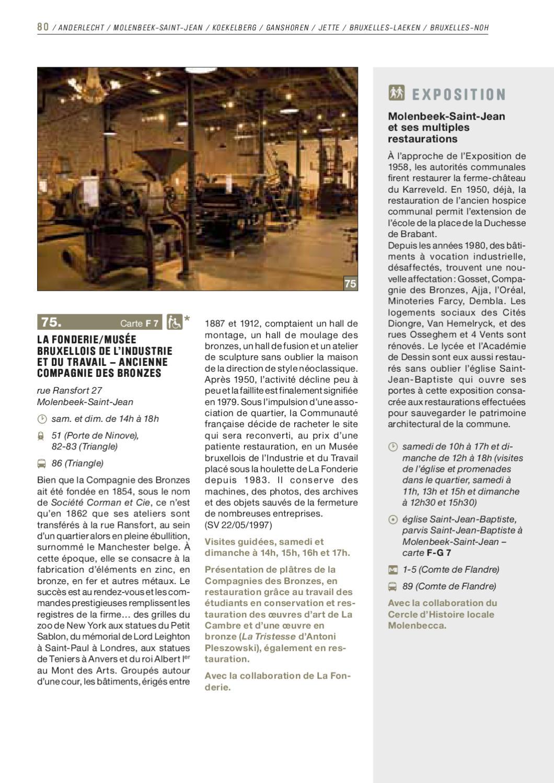 Journees Du Patrimoine 2011 Restaurations Conservation By Ministerie Van Het BrusselsHoofdstedelijk Gewest Directie Monumenten En Landschappen