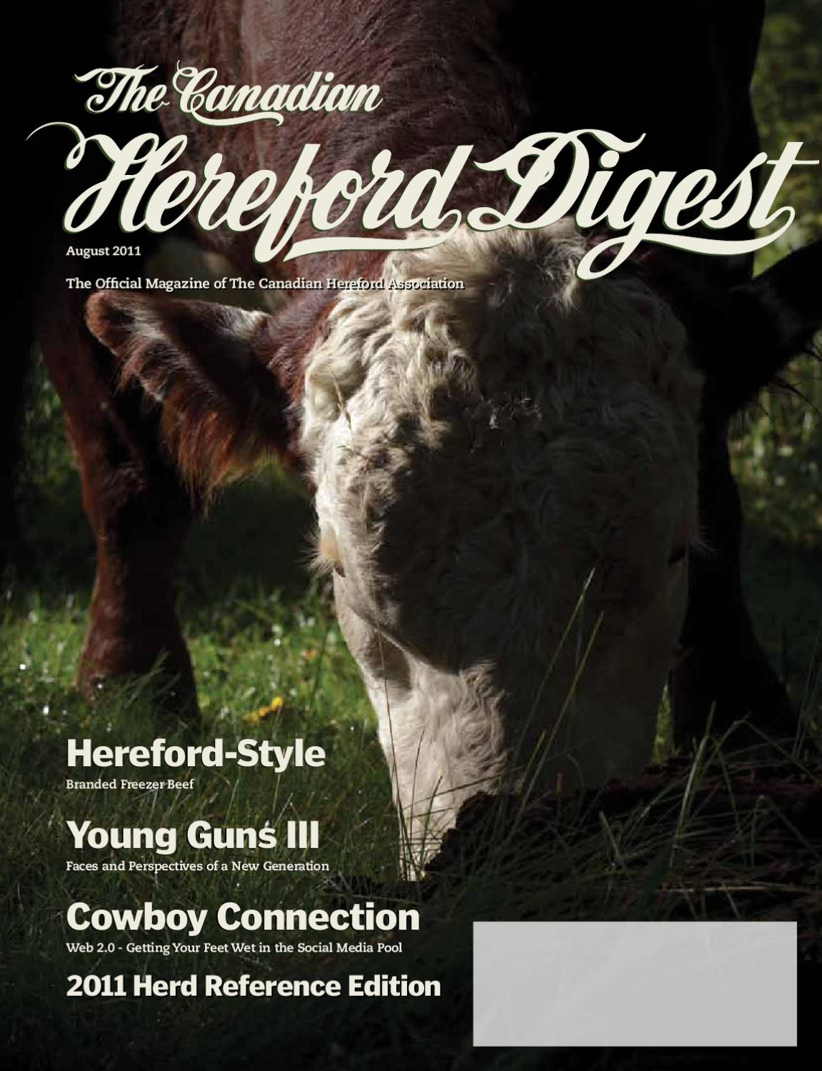 August 2011 Herd Reference Issue by Canadian Hereford Association - issuu