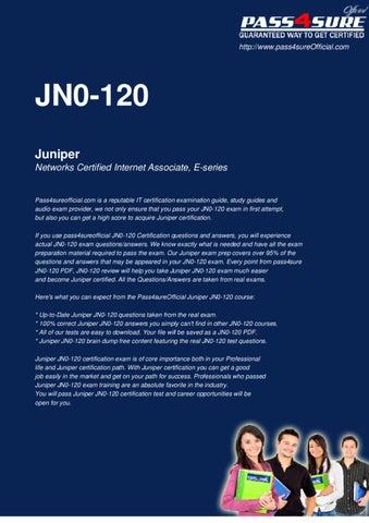 Juniper JN0-120 Questions