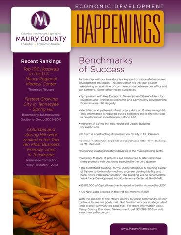 Economic Development Newsletter By Maury County   Issuu