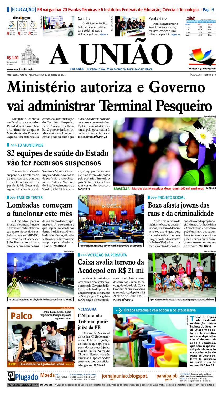 2fd140b4e1aae JORNAL A UNIÃO by Jornal A União - issuu