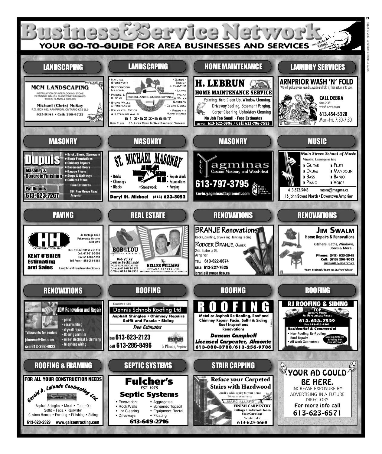 Arnprior Chronicle Guide by Metroland East - Arnprior Chronicle ...