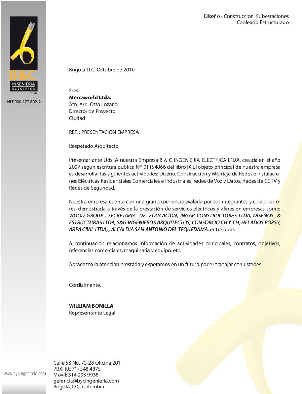 Byc carta de presentacion by camilo alarcon issuu - Empresas de montaje ...