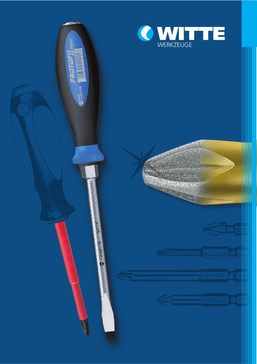 Witte 89418 3 x 60mm ESD Safe Precision Slotted Screwdriver