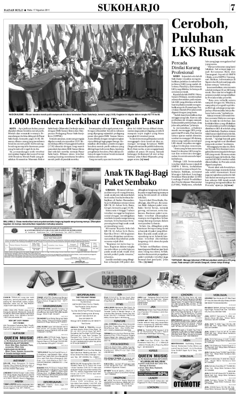 Radarsolo 17 Agustus 2011 By Radar Solo Issuu Bendrat Ajaib