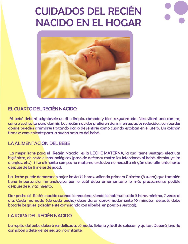 Cuidados del recien nacido en el hogar by clinica - Cuidados paliativos en casa ...