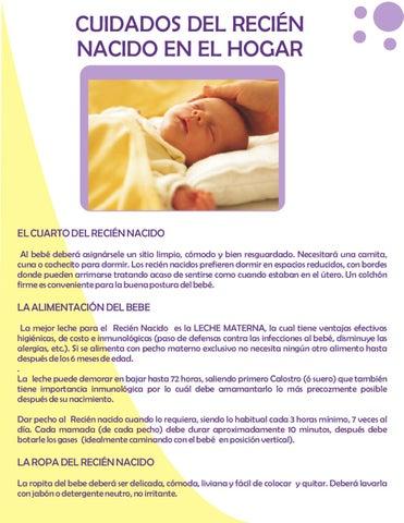 43bb65ada cuidados del recien nacido en el hogar by clinica occidente - issuu