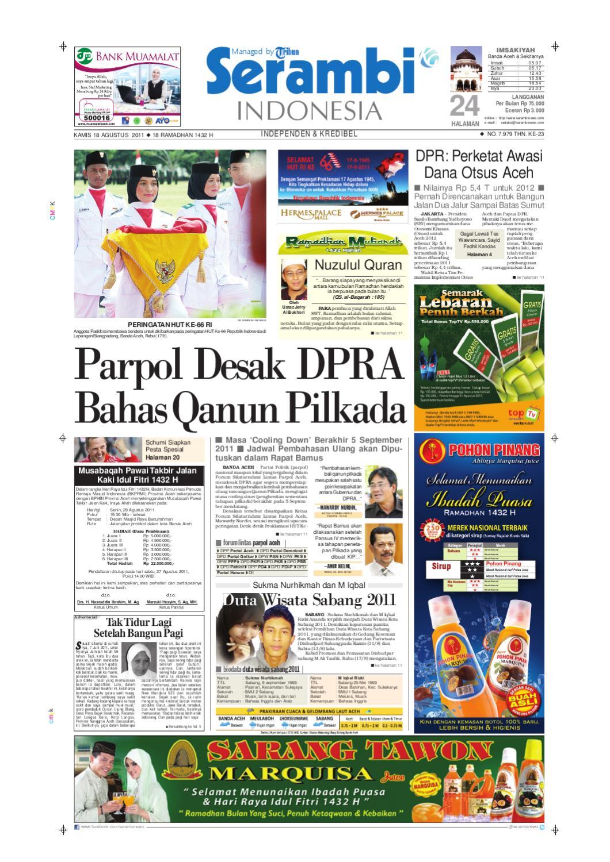 SERAMBI INDONESIA by Serambinews Indonesia - issuu 0eb165f9ee
