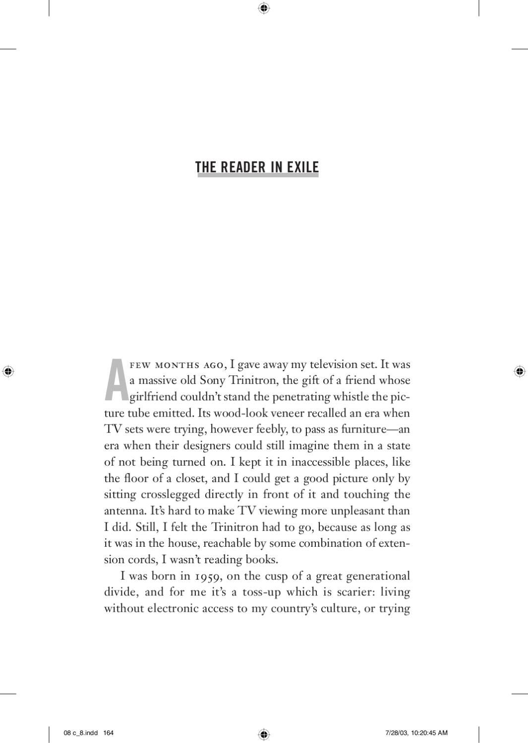 the reader in exile an essay from how to be alone by sam shone the reader in exile an essay from how to be alone by sam shone issuu