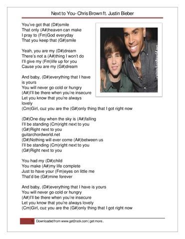 Next to You- Chris Brown ft. Justin Bieber by g jagan - issuu