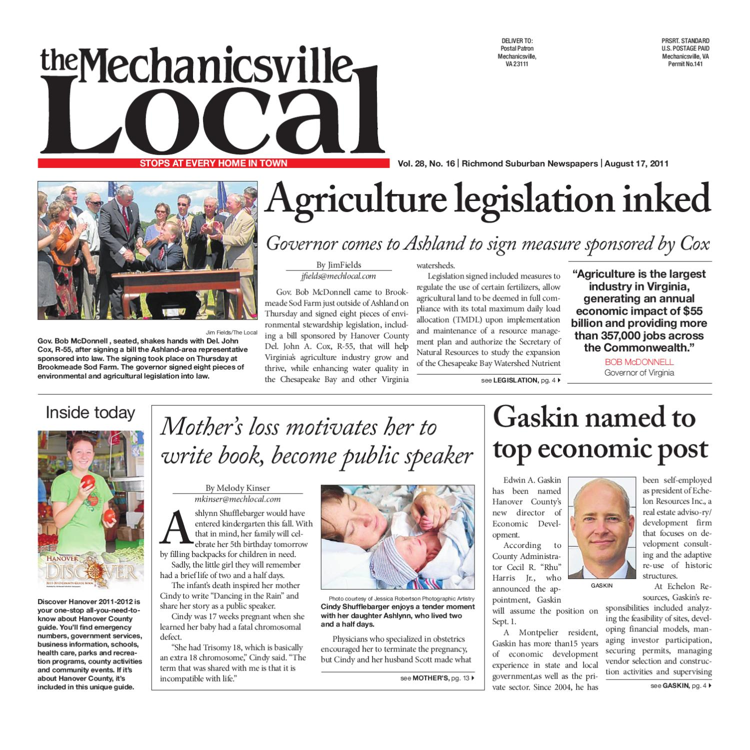 08/17/2011 by The Mechanicsville Local - issuu