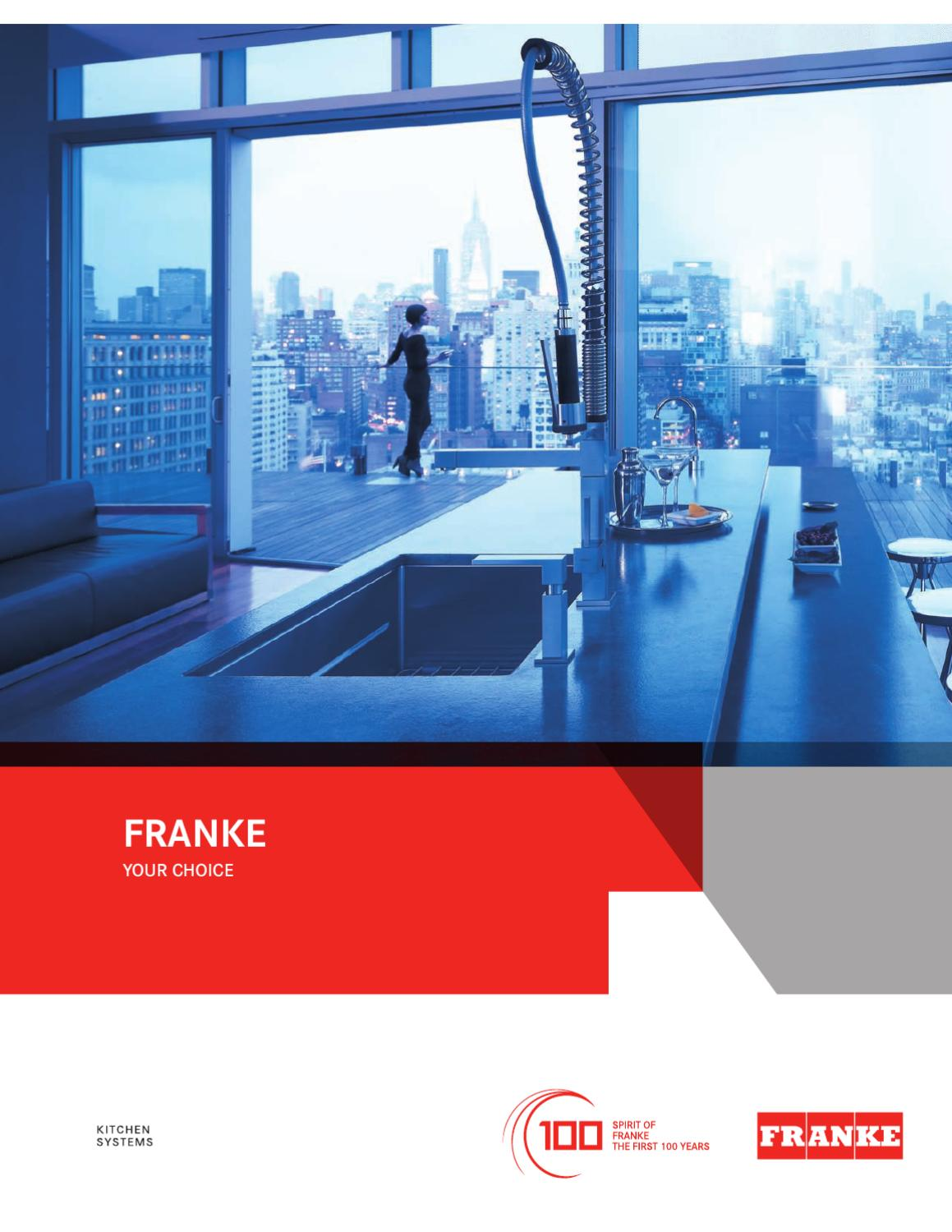 franke kitchen systems us luxury catalog by franke. Black Bedroom Furniture Sets. Home Design Ideas