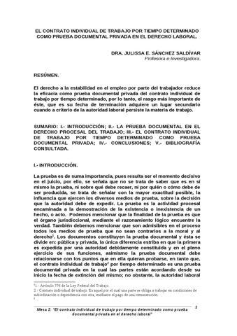 Julissa E Sanchez Saldivar Contrato Individual De Trabajo By