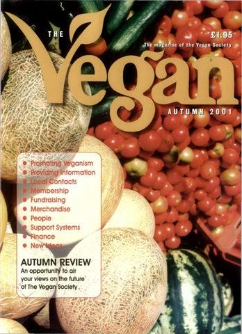 207676f1dba The Vegan Autumn 2001 by The Vegan Society - issuu