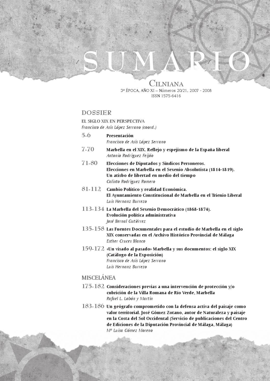Cilniana Nº 20 y 21 Parte 1 by Marbella Ayuntamiento - issuu
