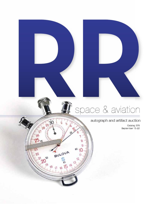 Rr Autograph Auctions Consignment Agreement: RR Auction Space & Aviation Autograph & Artifact Auction