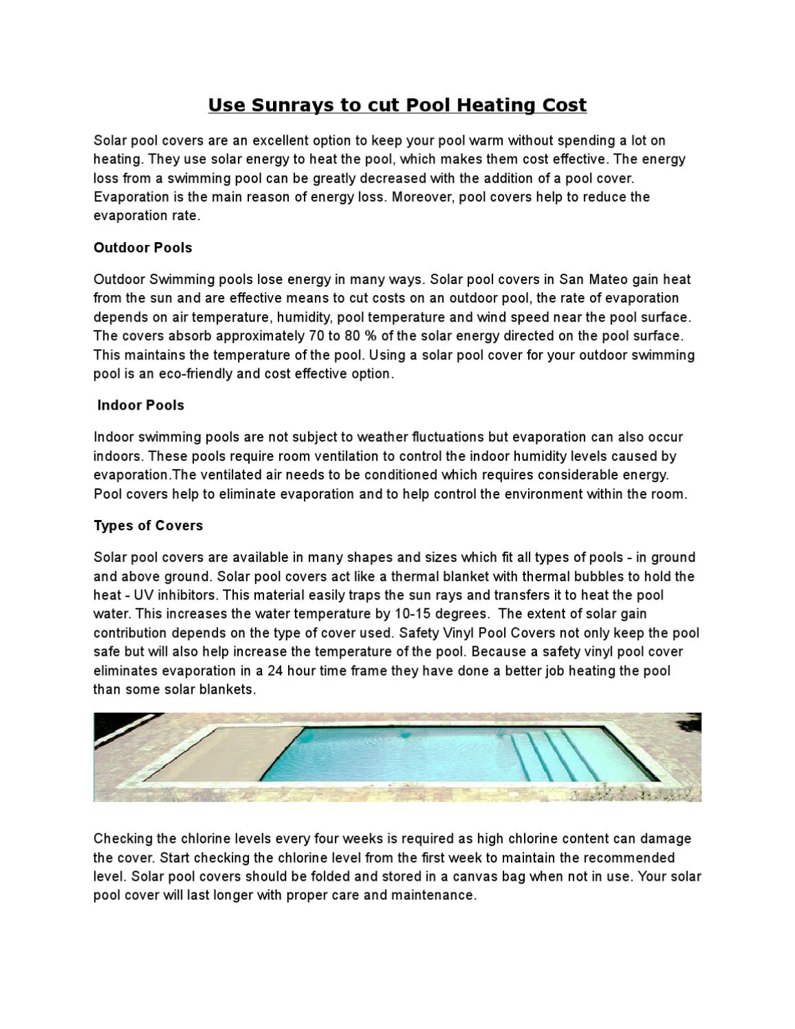Use Sunrays to cut Pool Heating Cost by Pool Covers Inc. - issuu