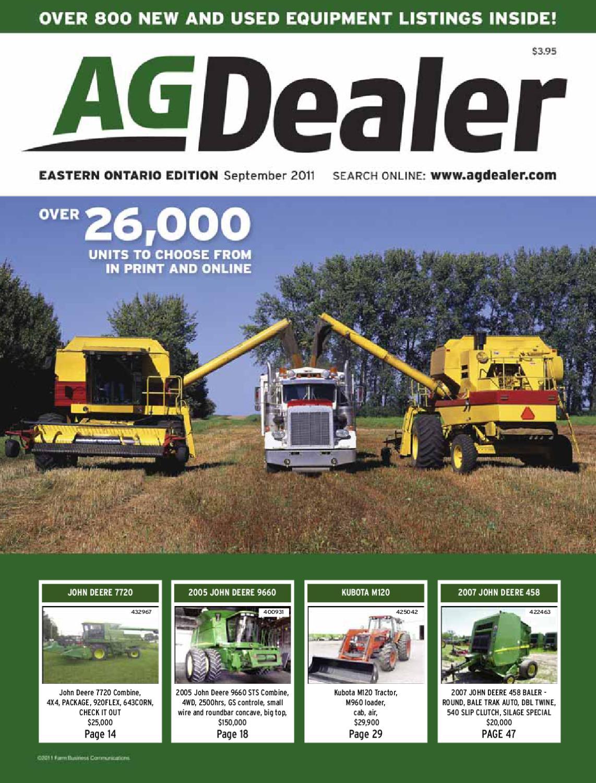 AGDealer Eastern Ontario Edition, September 2011 by Farm Business
