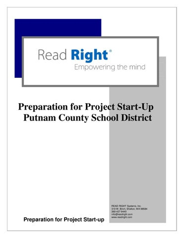 Preparation for Project Start-Up Putnam County School District