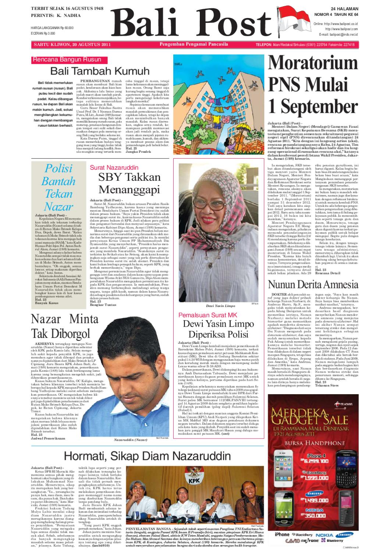 Edisi 20 Agustus 2011 Balipostcom By E Paper Kmb Issuu Produk Ukm Bumn Wisata Mewah Bali 3hr 2mlm