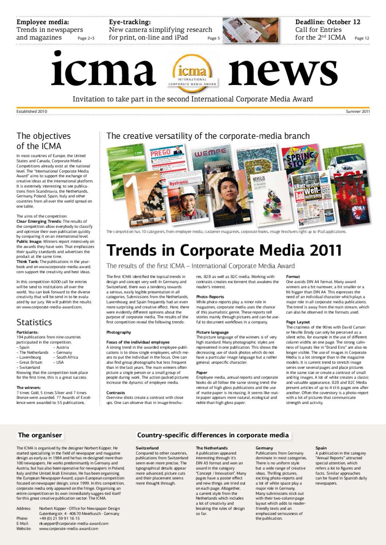 2. ICMA news English by Norbert Küpper issuu