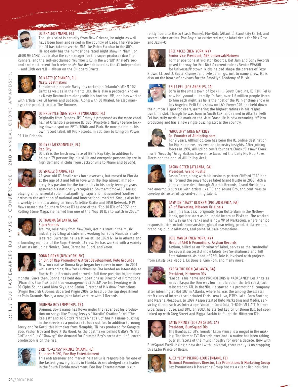 Ozone Awards 2007 special edition by Ozone Magazine Inc - issuu