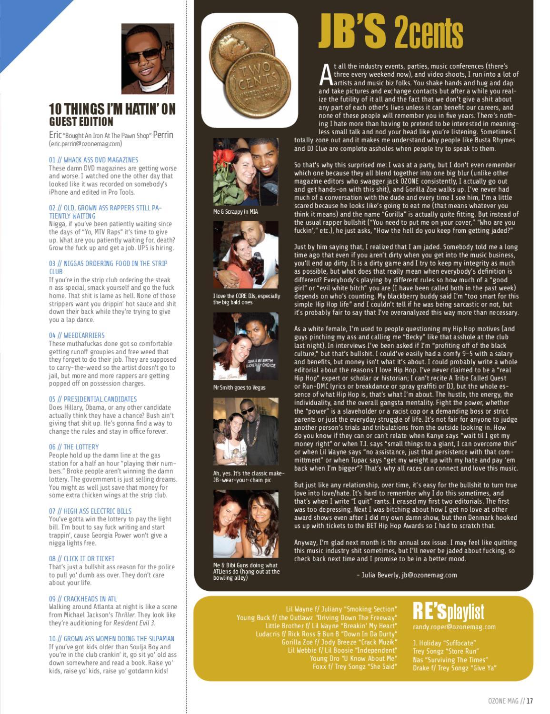 Ozone Mag 61 Nov 2007 By Ozone Magazine Inc Issuu