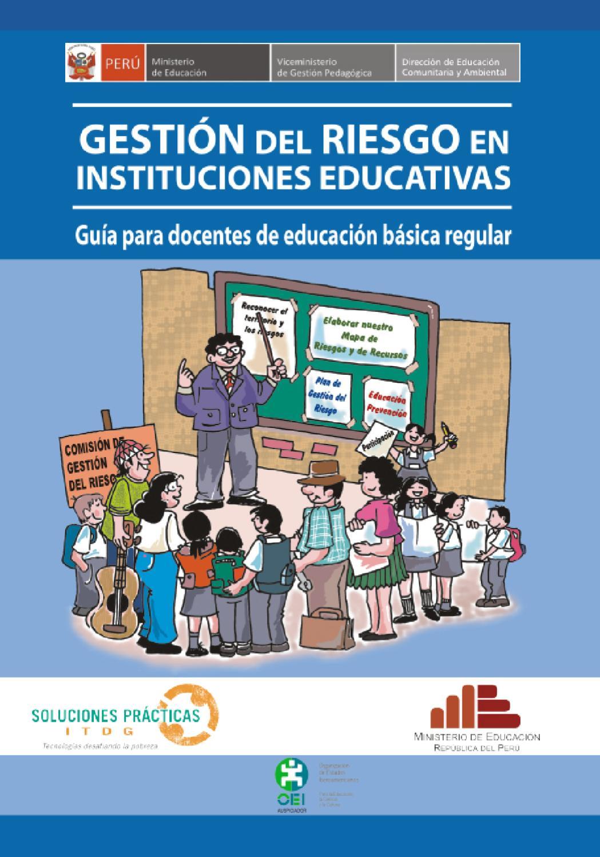 Gestion Del Riesgo En Escuelas By Institucion Educativa El Diamante Issuu