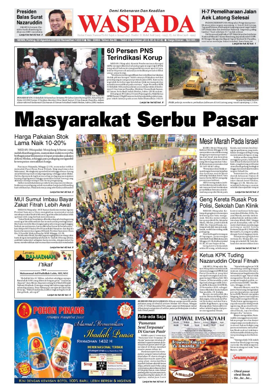Waspada, Senin 22 Agustus 2011 by Harian Waspada - issuu