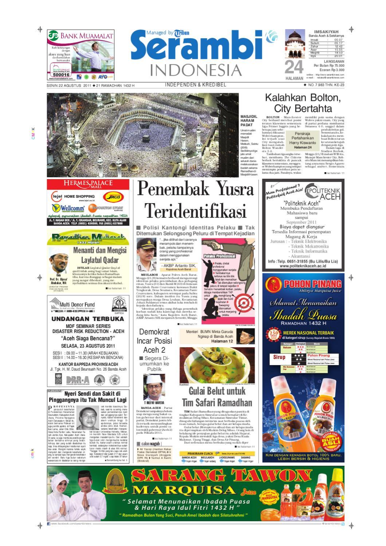 Serambi Indonesia By Serambinews Issuu Bri Produk Ukm Bumn Kain Doby Motif Bunga